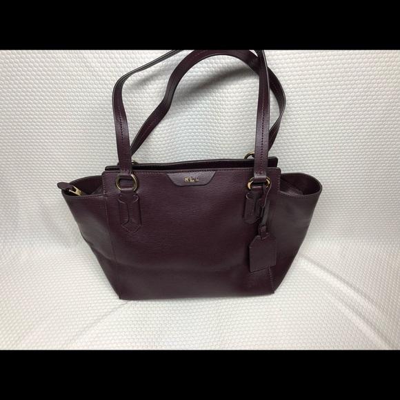 90e60cd6fcb Ralph Lauren RRL Bags   Ralph Lauren Wine Tote Bag Leather Purse ...